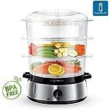 Aigostar FitFoofie BPA Free 30INA - Vaporera para cocina al vapor. Libre de BPA. Con temporizador y base en acero inoxidable. 800 watios. Calidad garantizada por Aigostar.