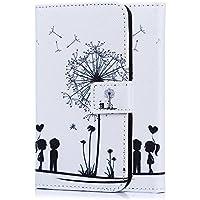 tinxi® Kunstleder Tasche für Microsoft Lumia 650 Tasche Schutz Hülle Schale Etui Flip Case Cover Standfunktion mit Karten Slot zwei liebliche Kinder