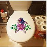 Wandtattoos 3 Stücke Klassische Hand Gezeichnete Blumen Vögel Hause Wandaufkleber Wandbild Toilette Wc Decor 22X17.2 Cm
