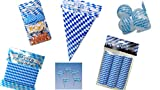Unbekannt Deko-Set Bayern Oktoberfest: Absperrband, Ballons, Konfetti, Luftschlangen, Picker, Wimpelkette