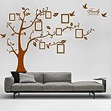 Single PVC Riesig Schwarz Bilderrahmen Speicher Baum Vine Zweig Abnehmbare Wandtattoo Stickers (rechts, braun)