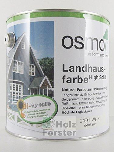 Preisvergleich Produktbild OSMO Landhausfarbe weiß 2.500 ml
