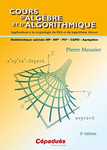 Cours d'algèbre et d'algorithmique