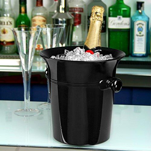 Acryl Wein & Champagner Eimer, schwarz?Acryl Ice Bucket, Wein Chiller