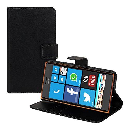 Kwmobile nokia lumia 730/735 custodia portafoglio - cover a libro in simil pelle - flip case con porta carte per nokia lumia 730/735