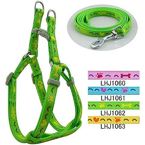 Fuentes del animal doméstico perro cuerda correa perro mascota tracción cuerda 1.0cm amor hueso cordón tire arneses , green