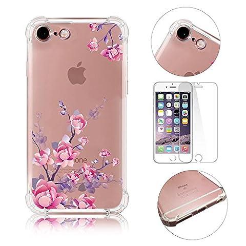 Fleur Etui pour iPhone 6S Plus 5.5 Pouces TPU Silicone