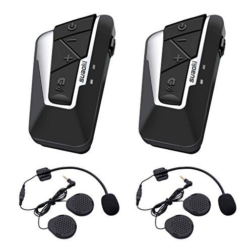 Suaoki T9S - 1200m Intercom Moto Bluetooth, 2PCS pour...
