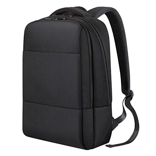 REYLEO Business Rucksack Herren und Damen Laptop Tasche Daypack Backpack für Büro Dienstreise wasserdicht schwarz-18 Liter