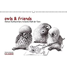 owls & friends Immerwährender Kalender (Wandkalender immerwährend DIN A3 quer): Stefan Kahlhammers fabelhafte Tierwelt (Monatskalender, 14 Seiten) (CALVENDO Spass)