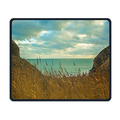 VAICR Mauspad Seaside Landscape Premium-Textured Surface,Non-Slip Rubber Base,Laser Optical Mouse Compatible Hawaii M1 -