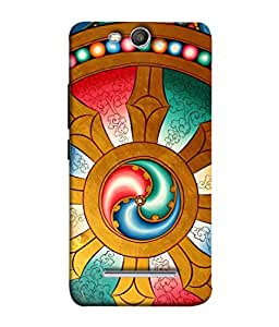 PrintVisa Designer Back Case Cover for Micromax Canvas Juice 3 Q392 (Monastery Religious Tradition Worship Buddhism Entrance Beautiful Religion)