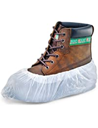 100 Pack Of White Disposable Overshoes For Shoes & Boots To Protect Carpets & Floors - Comes with TCH Anti-Bacterial Pen!