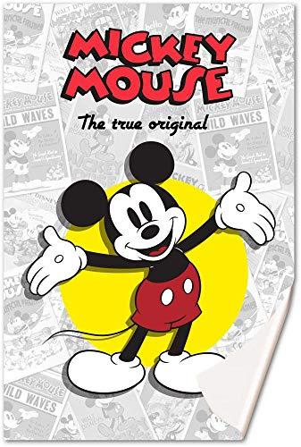 Mickey mouse, coperta in pile, 150 x 100 cm, motivo: topolino classic (wd20168), multicolore, 150 x 100 cm