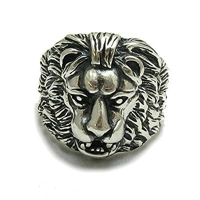 Bague en argent massif 925 Lion R001082