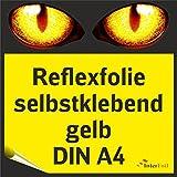 Reflexfolie, gelb reflektierend und selbstklebend, DIN A4 von Interfoil®