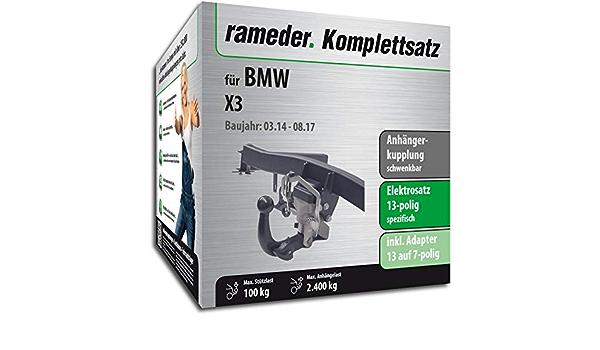 Rameder Komplettsatz Anhängerkupplung Schwenkbar 13pol Elektrik Für Bmw X3 123737 08763 3 Auto