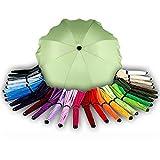 BAMBINIWELT Sonnenschirm für Kinderwagen Ø68cm UV-Schutz50+ Schirm Sonnensegel Sonnenschutz (Hellgrün)
