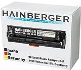 Hainberger Toner Black kompatibel zu HP CF 210X 2400 Seiten bei 5% Deckung, Made in Germany