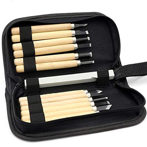tzerei Messer Tools Kit, Holzschnitzereien Handgemachte Stempel Geschnitzte Messer Mit Wetzstein ()
