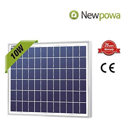 Newpowa 10 Watt Polykristallines SolarModul Hohe Effizienz 10W 12V SolarPanel Poly Solarzelle Photovoltaik für Wohnmobil Gartenhäuse Boot