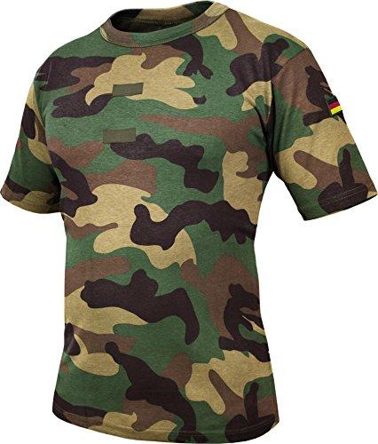 Original Tropen T-Shirt nach TL Farbe Woodland Größe 9 (Baumwolle Langen Ärmeln Gerippte)