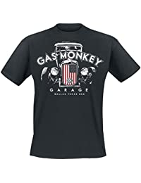 Gas Monkey Garage Patriotic Hot Rod 2 T-Shirt Black