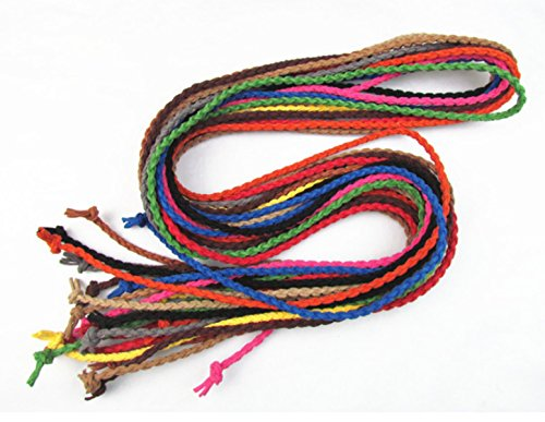 WKAIJCD 70 Inch Adjustable Fashion Women's Decorative Simple Tassel Waist Belt Tassel Rope Knitted Waist Chain / Rope / Thin Belt With Tassel More Color (3pieces)