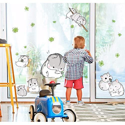 Kuamai Fette Hamster Maus Wand Aufkleber Abziehbilder Kinder Hause Kinderzimmer Treppe Dekor Tiere Diy Vinyl Tapeten Selbstklebend Abnehmbar