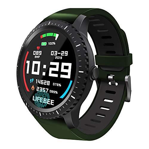 LIFEBEE Smartwatch, Fitness Armband Tracker Bluetooth Smart Watch Aktivitäts Sport Uhr IP68 Wasserdicht Damen Herren Smart Uhr Armbanduhr Pulsmesser Schlafmonitor SMS Beachten für Android iOS (Sport-uhren)