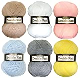 Marriner Double Knit Baby Pack | Double Knit Yarn for Beautiful Baby Garments | 100% Acrylic | 6 x 100g balls
