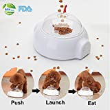Flightbird Automatic Pet Feeder, Pet Snack Launcher Fun Interactive Food Dispenser Treat Launcher Catapult Toy for Dog Cat