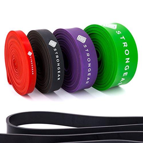 STRONGEAR Premium Pull Up & Fitnessbänder mit digitaler Übungsanleitung - Klimmzug- und Trainings-band für CrossFit u. Calisthenics / Widerstandsband / Resistance Band - verschiedene Größen