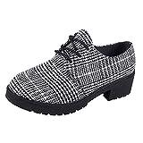 Sonnena Damen Elegant Schnürer Low-Top Schuhe Rund Toe Flach Boden Plateau Booties Niedrige Schlauchstiefel Casual Knöchel Schuhe Shoes Outdoor Rutschfest Boots 35-40