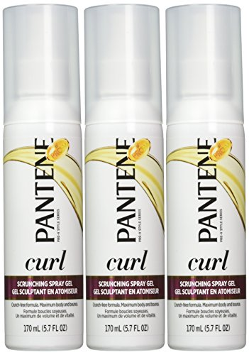 Pantene Pro VÂ Curly Hair Style Curl Enhancing Spray Hair Gel 5.7 Fl Oz