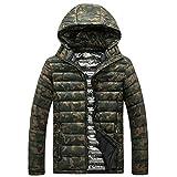 Luckycat Der Winter beiläufiger Camouflage Druck der Männer verdicken mit Kapuze Baumwolljacke Mantel Winterjacke Steppjacke Daunenjacke Parka Mäntel Jacken