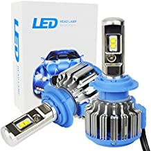 Safego 70W H7 Lámpara LED Kit Bombillas 4Chips 6000LM Alto Low LED Kit de Conversión de Coche 12V Reemplazar Para Luces Halógenas o Bombillas HID Lámpara T1-H7