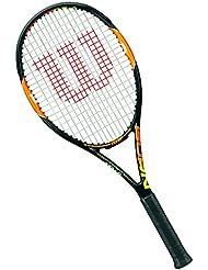 Wilson Racchetta da tennis Unisex, Per giocatori da fondo campo, Per principianti ed esperti, Burn 100 Team, Misura 3, Arancione, WRT72580U3