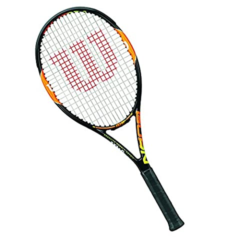 Wilson Burn 100 Team Tennis W/O CVR Racquet - Black/Orange/Gunmetal/Orange, 2 Grip