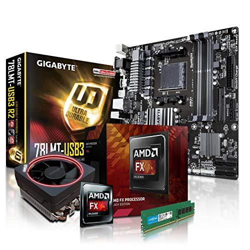 PC Aufrüstkit AMD, FX-8350 8x4.0 GHz, 16GB DDR3, Radeon HD3000-1GB, Mainboard Bundle, Tuning Kit, fertig montiert, Spiele Office - Motherboard Cpu Bundle