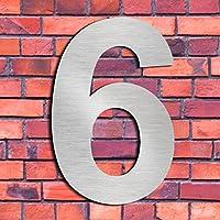 Cepillado número de casa 6 Seis/9 nueve -15.3 cm 6 in-made de sólido Acero inoxidable 304 flotante apariencia, fácil de instalar