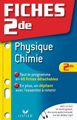 Fiches 2de Physique-Chimie
