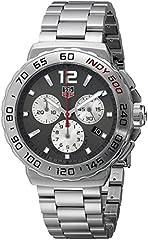 Idea Regalo - Orologio Uomo Quarzo TAG Heuer display Cronografo cinturino Acciaio inossidabile Argento e quadrante Grigio CAU1113.BA0858
