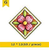 PLYY Bodenfliese PVC-Aufkleber Wohnzimmer Küche Schlafzimmer Bodenfliese Kreative Dekorative Wasserdichte verschleißfeste Fliese Diagonale Aufkleber, G, 12 * 12
