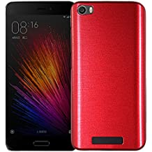 MOONCASE Xiaomi 5 Funda, Brushed Diseño Híbrido Doble Capa Soft TPU + Duro PC Back Panel Case Anti-Choques Carcasa para Xaomi MI 5 Rojo