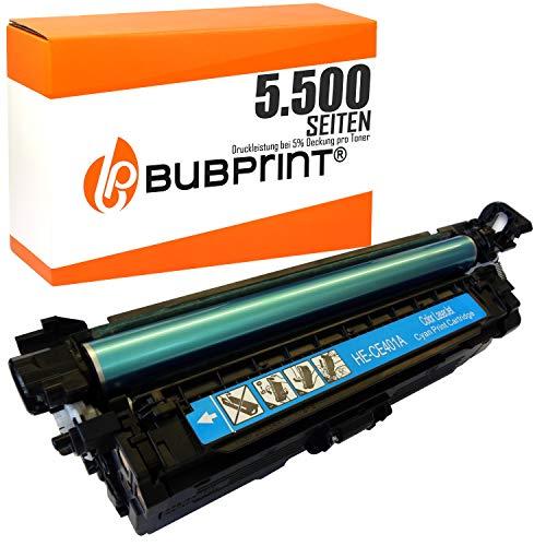 Bubprint Toner kompatibel für HP CE401A 507A für LaserJet Enterprise 500 color M551DN M551N M551XH M575DN M577DNM Pro 500 color MFP M570DN M570DW Cyan - Hp M551n-drucker Laserjet Color