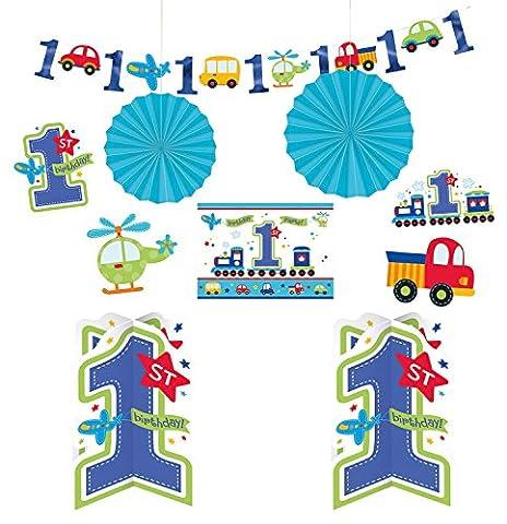 10-teiliges Deko-Set * BIRTHDAY BOY* zum ersten Kindergeburtstag // Kinder Geburtstag Jungen