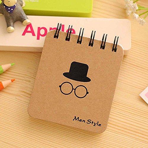4pcs Kleine Notebook tragbare Mini-Notebook Notebook-Cartoon-Tier Katze Bär Schwein Stationery Items für Schule Student Office (Hut und (Katze Film Hut Im)