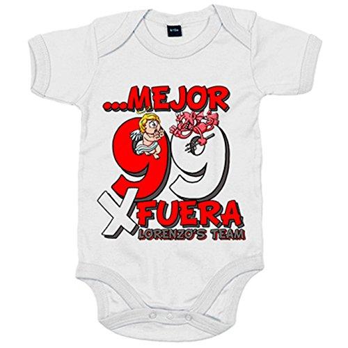 Body bebé motero Ángel y Demonio por fuera - Blanco, 12-18 meses