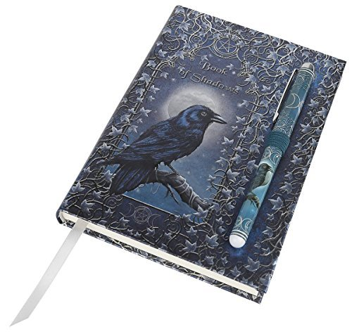 Luna Lakota Spells Raven Crow 6.75 Hard Cover Embossed Journal Book with Pen by Pacific Giftware